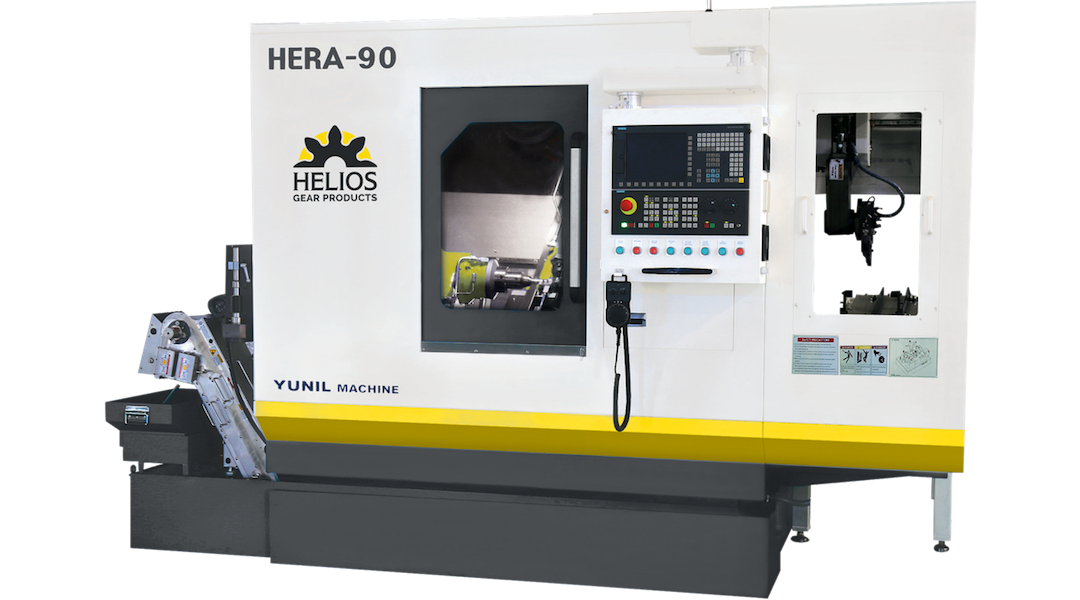 Helios Introduces Hera 90 CNC Gear Hobbing Machine