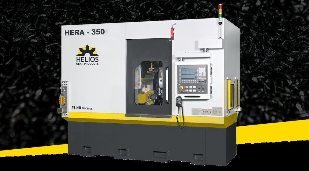 Helios Introduces Hera 350 CNC Gear Hobbing Machine